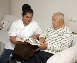 LPN with senior patient in Noorvik AK nursing home